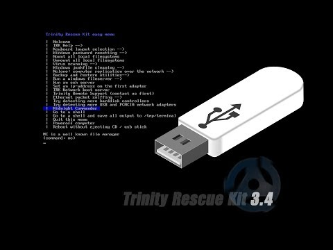How To Create A Trinity Rescue Kit Usb Live 2019 Guide Youtube
