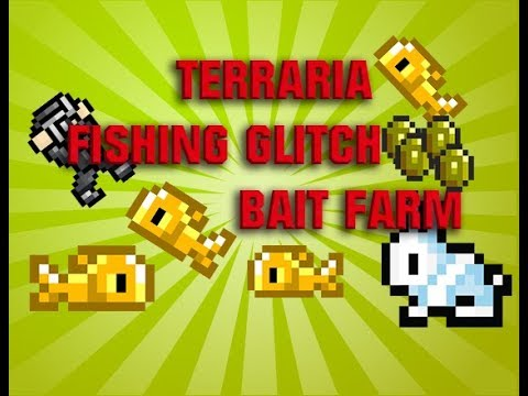 Terraria fishing glitch and bait farm terraria 2017 for Terraria fishing bait
