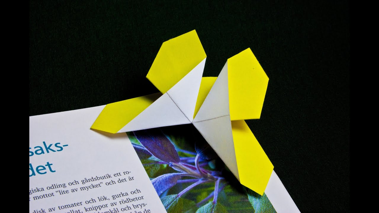 How To Make A Paper Butterfly Bookmark Origami 4ik