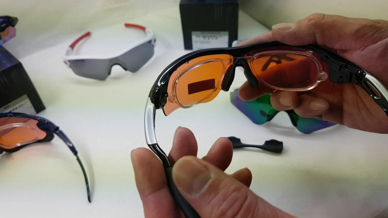 f8e30a10ae Oakley Radar Lock Sports goggles Prescription optical adapter - YouTube