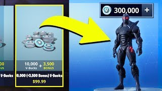 BUYING 300,000 V BUCKS in FORTNITE! (The RICHEST ACCOUNT EVER!)