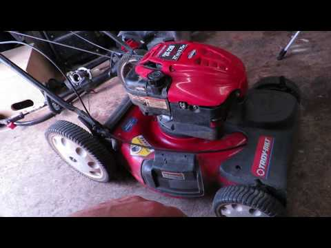 Non-Running Troy-Bilt Self Propelled Mower