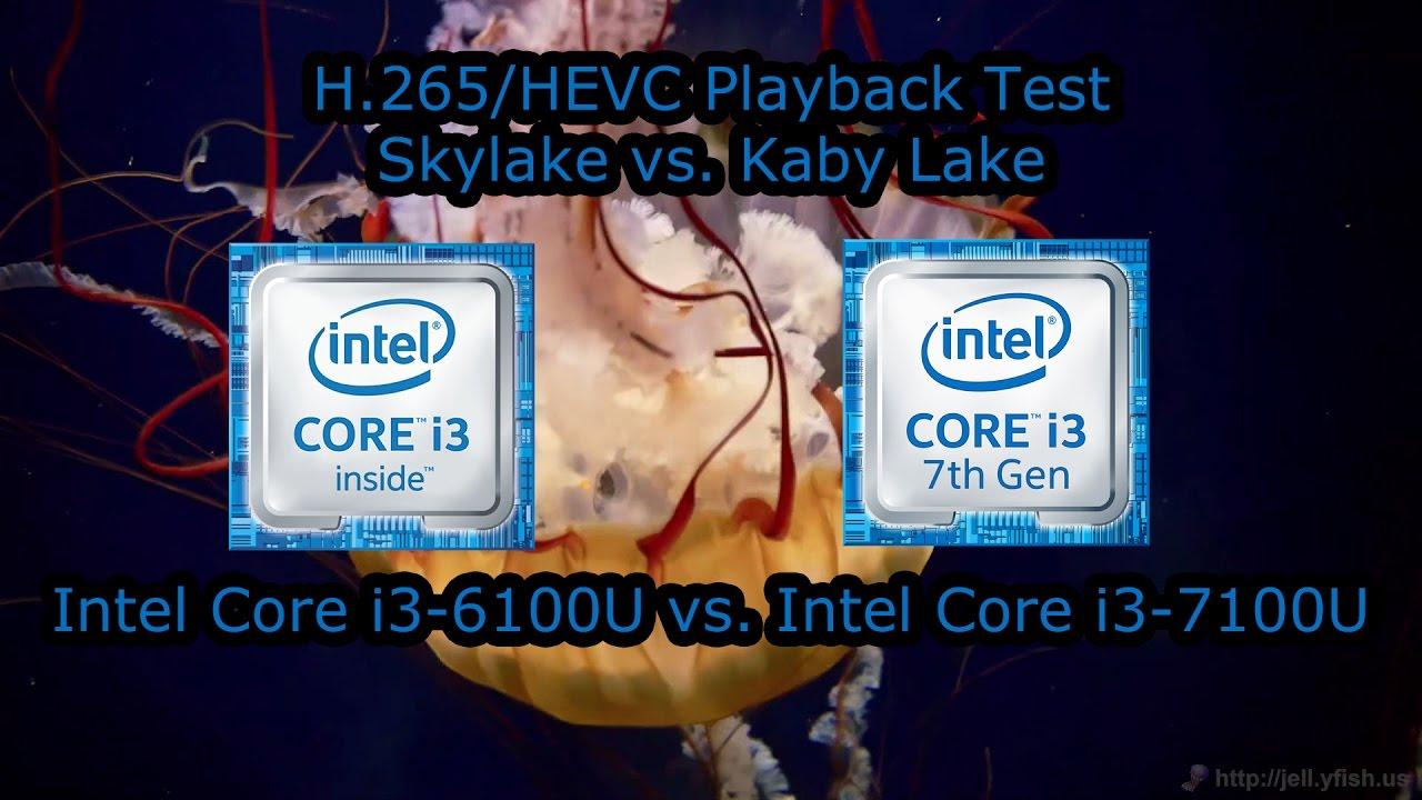 H 265/HEVC Playback Comparison - Skylake vs  Kaby Lake