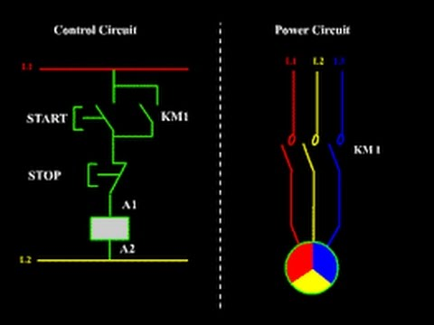 start stop control wiring diagram wye delta starter connection star in tamil - youtube