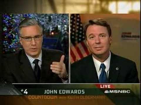 John Edwards Speaks to Keith Olbermann CountDown MSNBC