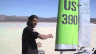 "Return of the ""Monster"" US 390 Landsailer Land Sailing at El Mirage Dry Lakebed"