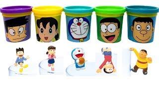 Doraemon(ドラえもん) Play Doh Can Heads & Putitto Series Toys Nobita Suneo Shizuka Takeshi Doraemon
