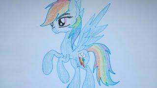 Уроки рисования: как нарисовать пони Рейнбоу Деш(В этом видео я покажу вам как нарисовать пони Рейнбоу Деш. Ставьте качество 720p (HD) или 1080p (FullHD) Подпишитесь..., 2015-07-20T10:59:26.000Z)