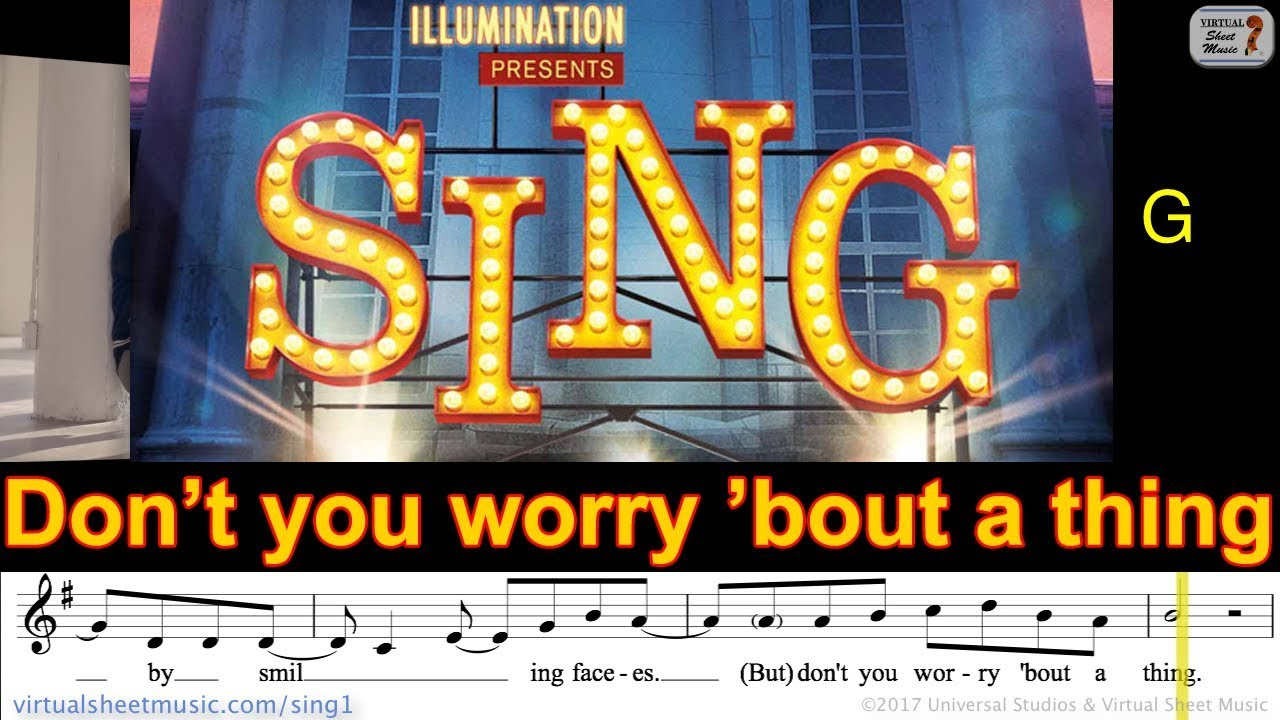 [Sheet Music, Lyrics & Chords] Tori Kelly - Don't You Worry 'Bout A Thing (Sing Movie Soundtrack ...