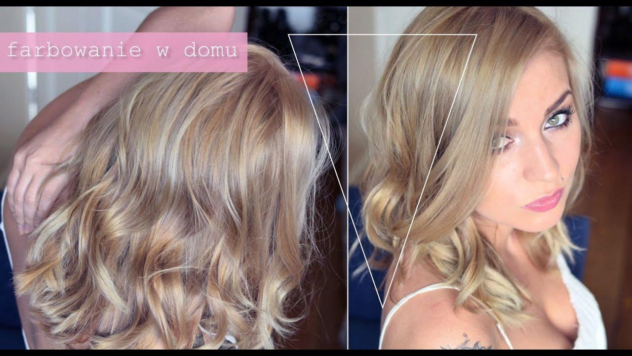 Farbowanie Wlosow W Domu Moja Technika Chlodny Naturalny Blond