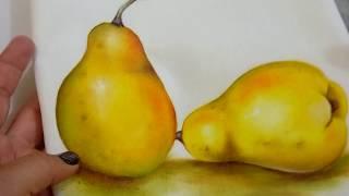 PINTURA EN TELA, Como pinto una pera