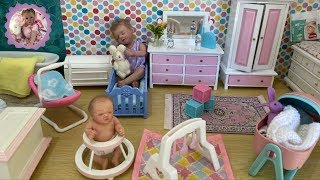 MINI REBORN NURSERY MAKEOVER for Silicone Babies Emma and Ellie