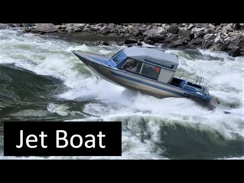 Salmon River Jet Boat Cramer Creek Rapid Idaho Viking