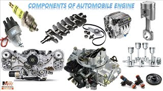 Components of Automobile Engine in Hindi