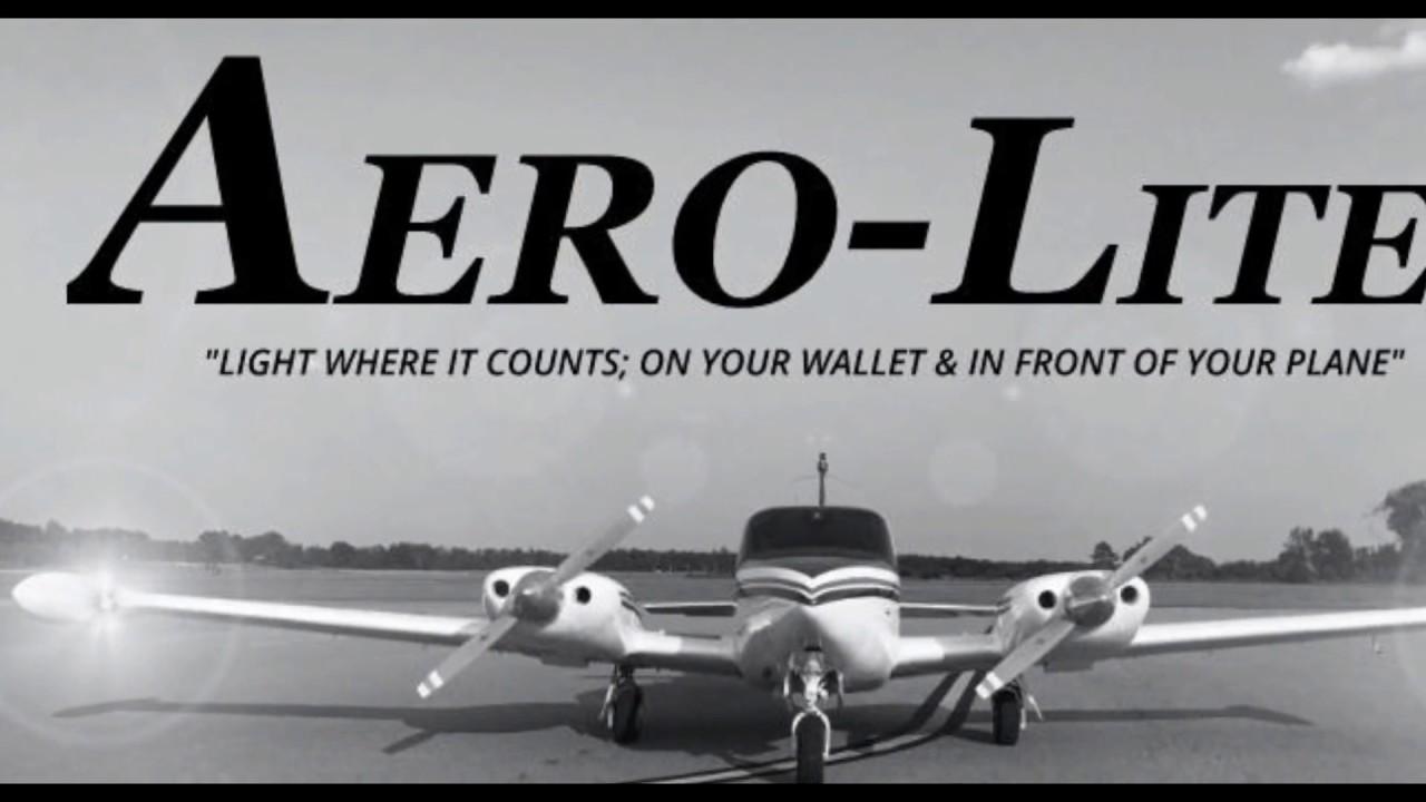 Aero-Lites - LED Replacement Landing Light and Nav Light Demonstration
