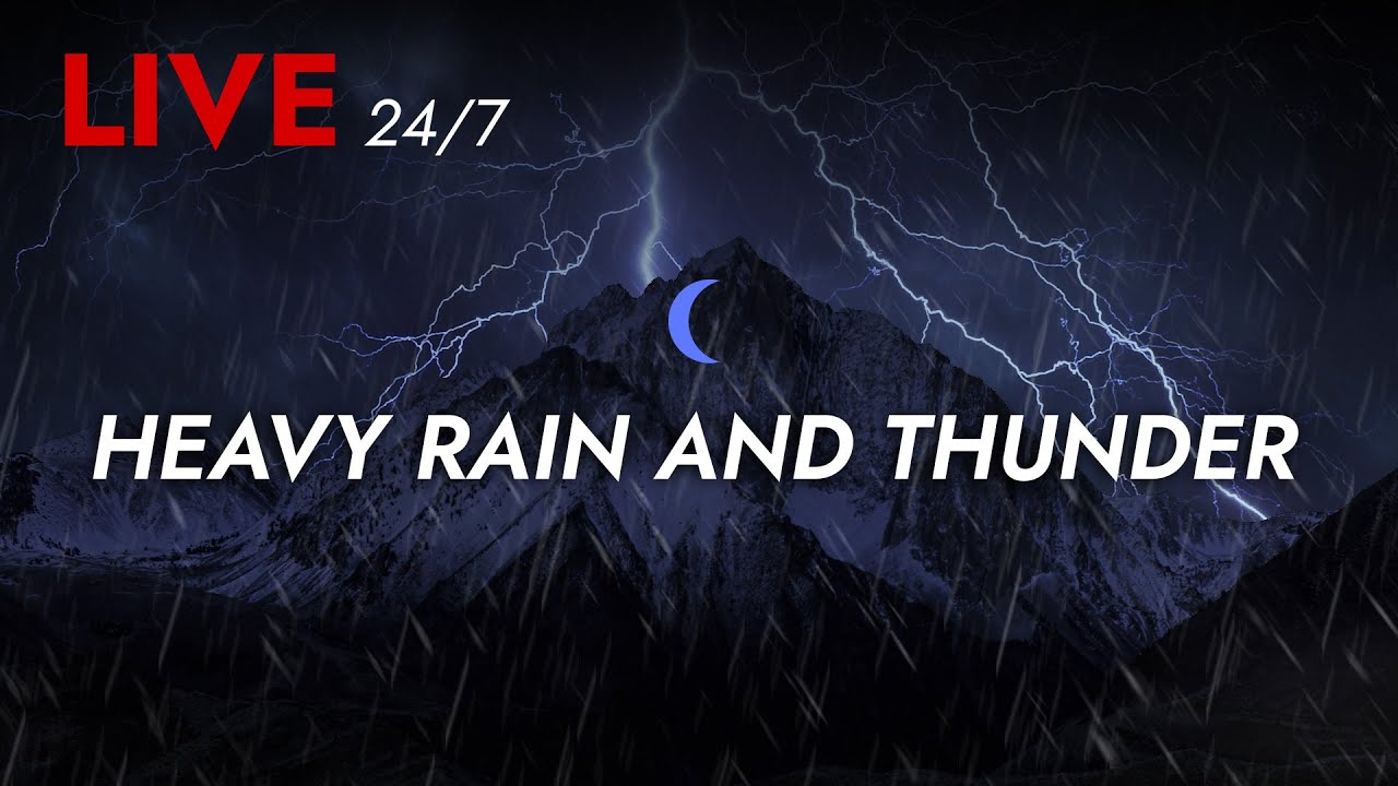 Download 🔴 Heavy Rain and Thunder Sounds 24/7 - Deep Sleep   Thunderstorm for Sleeping - Pure Relaxing Vibes