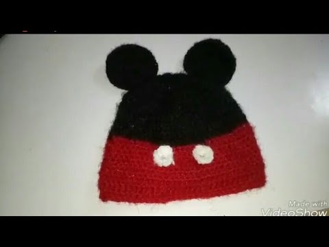 Mickey Mouse cap for 1-3years old baby tutorial in hindi - YouTube 551dc1e4c72