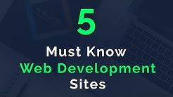 5 Must Know Sites For Web Developers