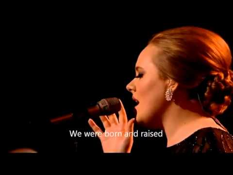Adele Someone like you   LYRICS HD  from Brit Awards 2011