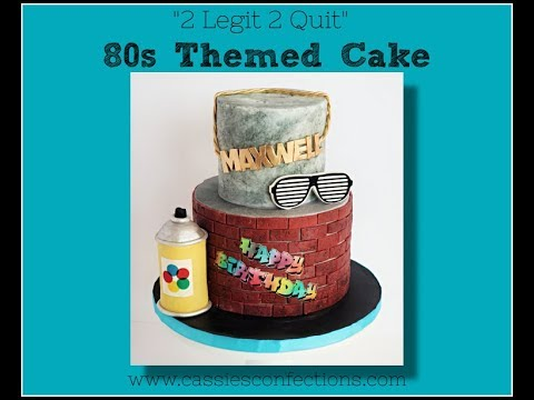 80s 90s Themed Cake