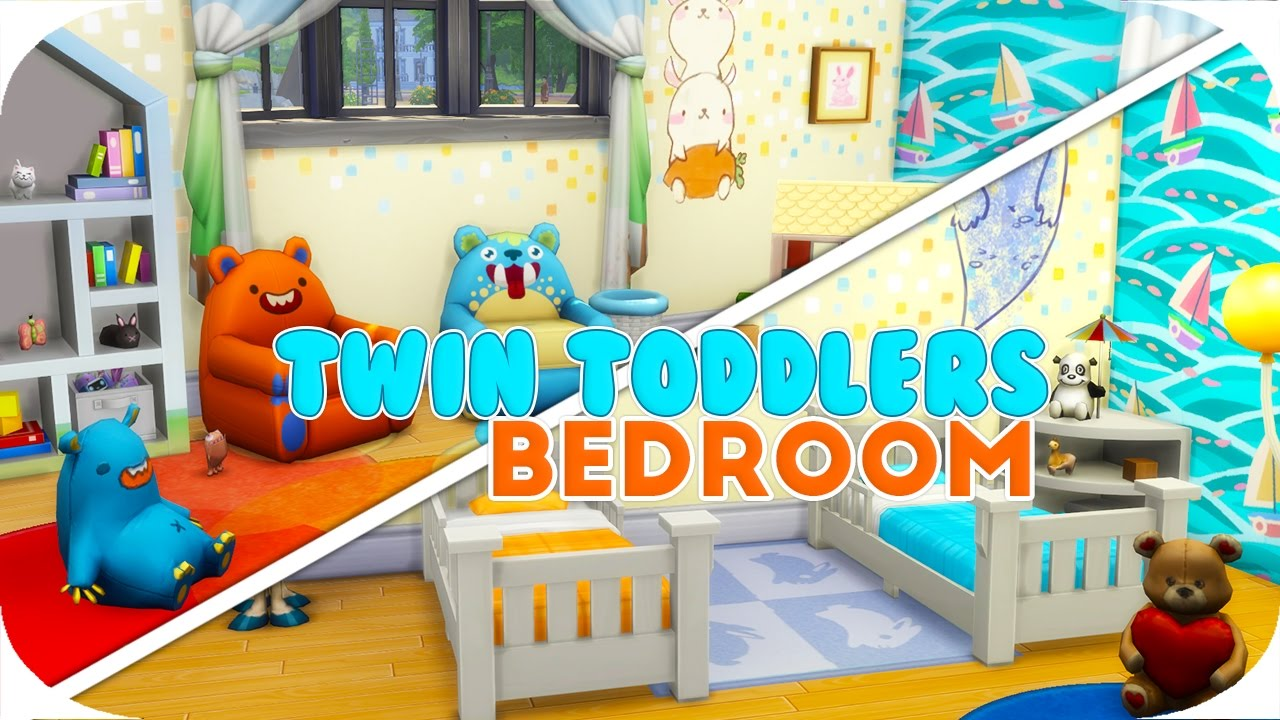 The Sims 4 | TWIN TODDLERS BEDROOM👣   YouTube
