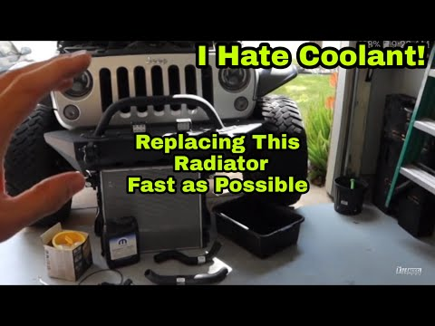 Radiators Leaking Time to Replace It / Jeep Wrangler JK / How to