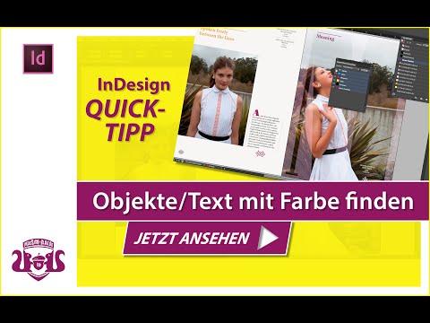 Objekte/Text mit einer bestimmten Farbe finden // InDesign QUICK-TIPP