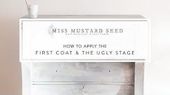 how to apply the first coat of milk paint | miss mustard seed