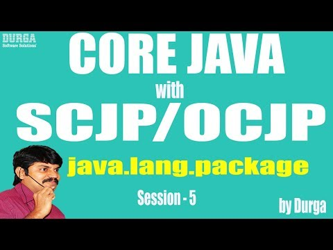 Core Java With OCJP/SCJP: java.lang.package Part-5 ||  Strings class