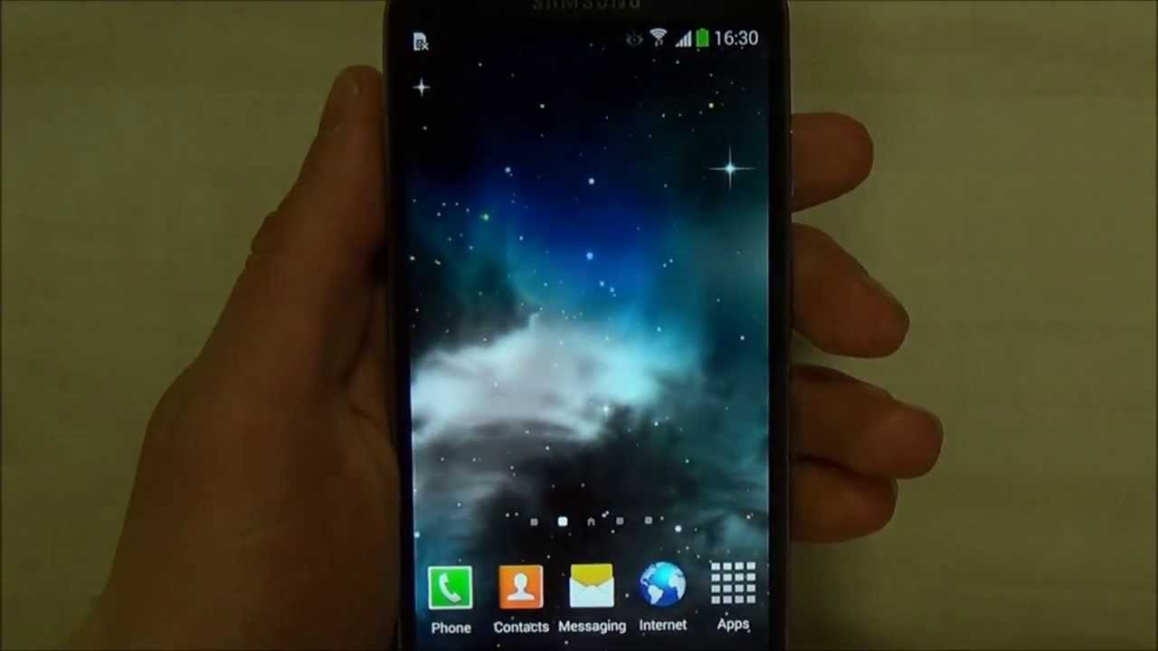 Galaxy 3d Parallax Live Wallpaper For Android Youtube