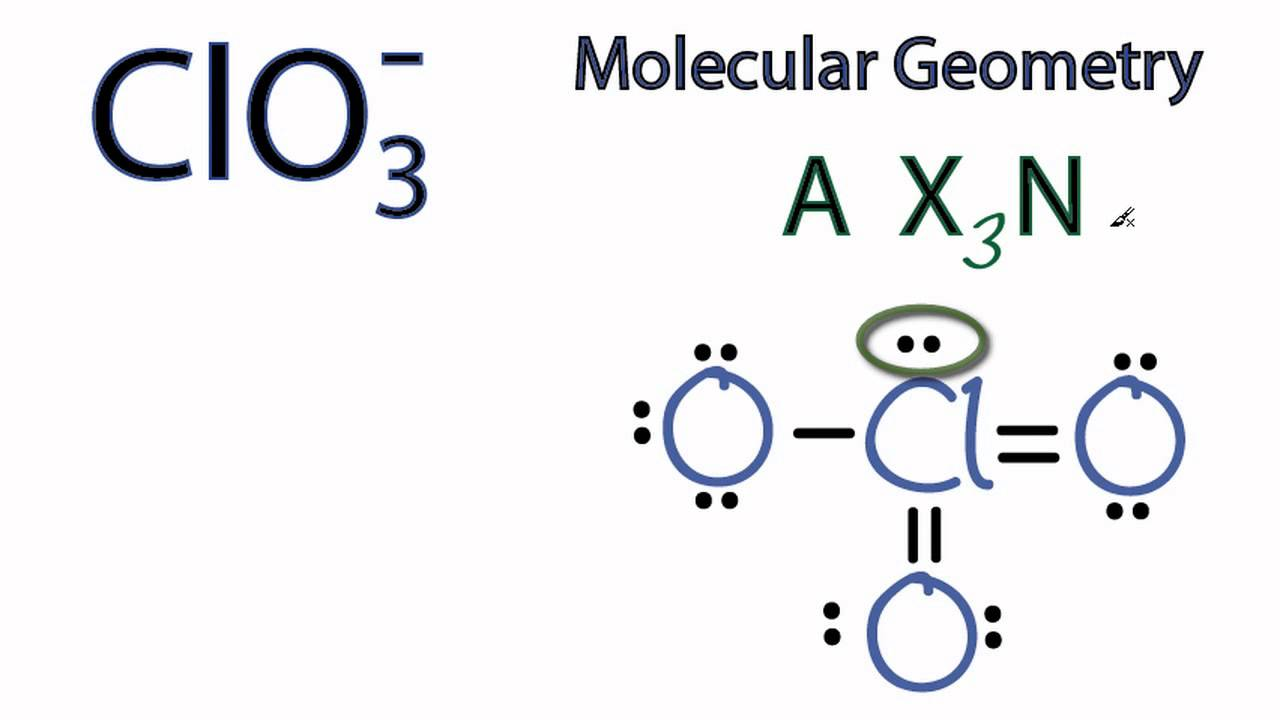 Clo3 Molecular Geometry Shape And Bond Angles Chlorate Ion Youtube A figure can be more convincing than 100 words. clo3 molecular geometry shape and bond angles chlorate ion
