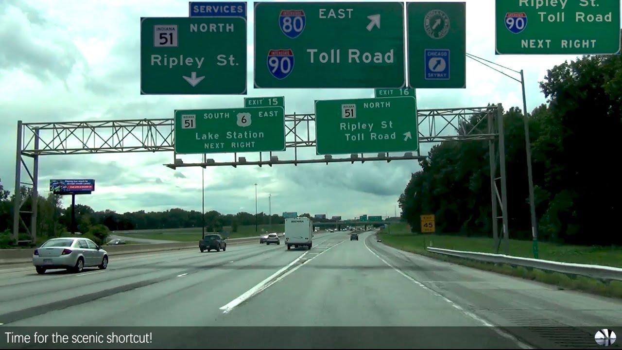 Gary, Indiana - I-94 - I-90 - Indiana Toll Road - YouTube