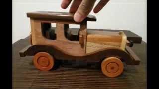 Apresentando O Carrinho De Madeira Artesanal - Introducing The Handmade Wooden Toy Car