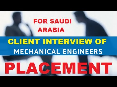 Client Interview Of Mechanical Engineer For Dammam Saudi Arabia in Hindi/English