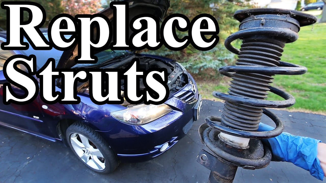 how to replace struts in your car or truck youtube. Black Bedroom Furniture Sets. Home Design Ideas