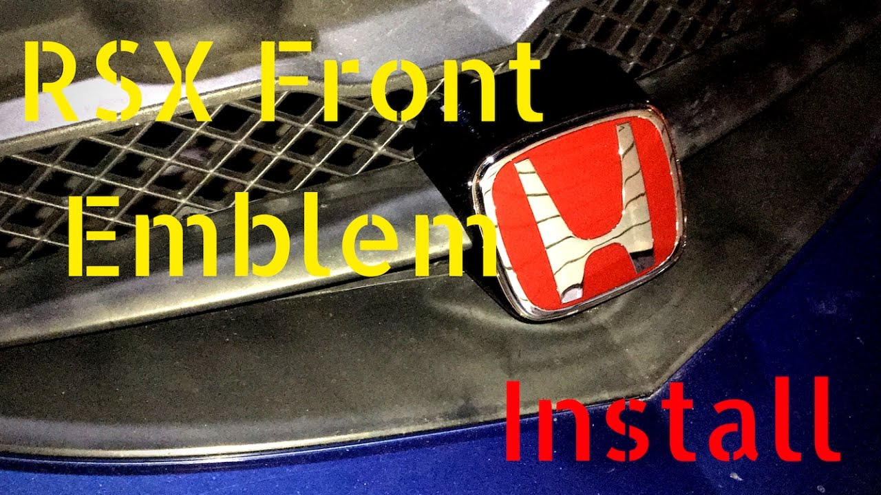 RSX Front Emblem Install YouTube - Acura rsx front emblem