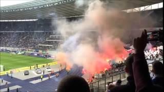 Frankfurter Pyroshow in Berlin (Hertha BSC Berlin - Eintracht Frankfurt - 16.05.15)