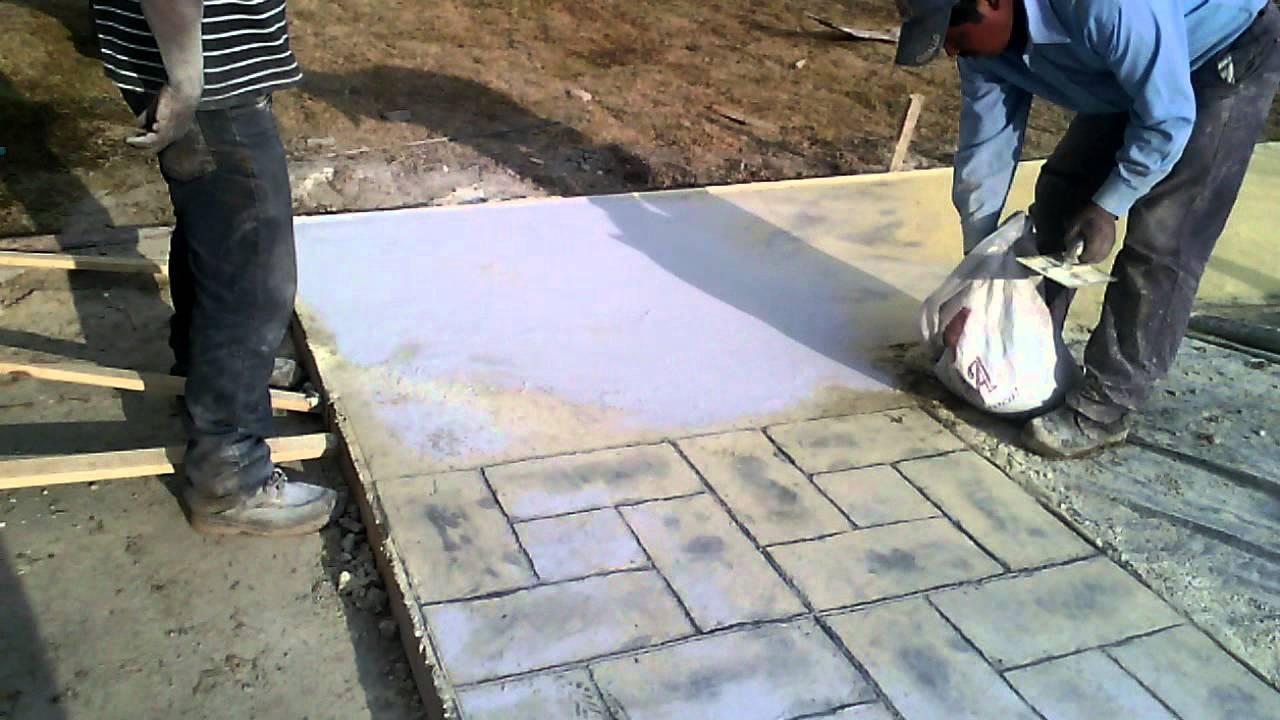 Como hacer pisos de concreto estampado en toluca youtube Cemento estampado fotos