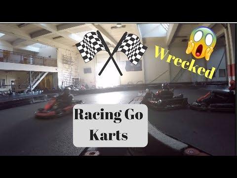 Racing Go Karts In Copenhagen! Lit!!! WRECK TOO!!!