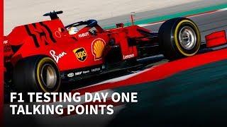 F1 testing day one: Ferrari strikes first in Spain