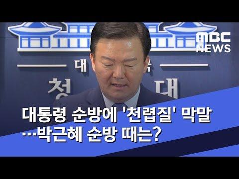대통령 순방에 '천렵질' 막말…박근혜 순방 때는? (2019.06.10/뉴스데스크/MBC)