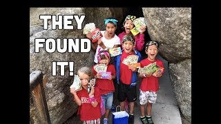 THOUSAND MILE TREASURE CHEST HUNT INTO A CAVE