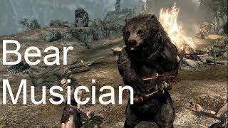A Dancing Bear Playing on Lute! Skyrim Mod