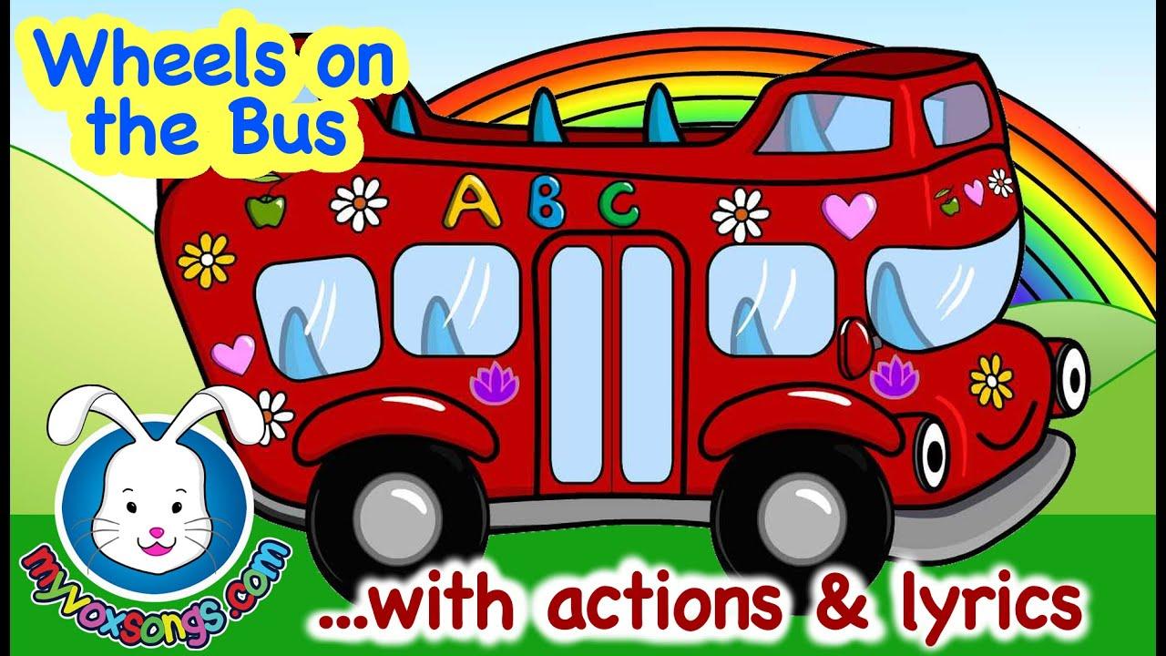 Wheels On The Bus Go Round Amp Round Song Lyrics