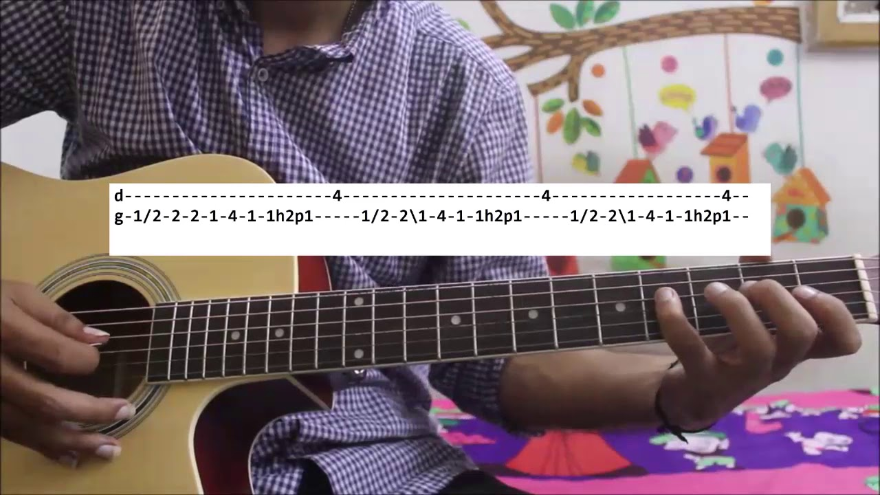 Love Romantic Theme super easy - Hindi tabs/leads guitar cover lesson  beginners