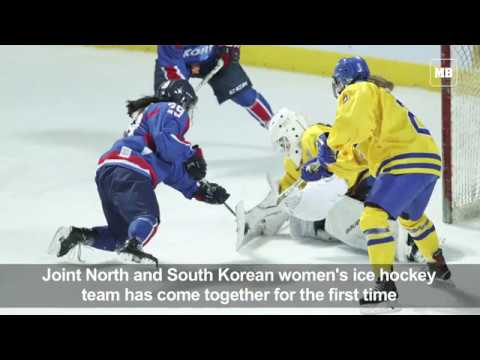 Joint Korean hockey team plays first game but meets with protest