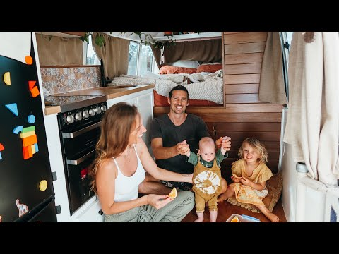 TINY HOUSE Bus Living Vlog(No Couch) + VEGAN Curry