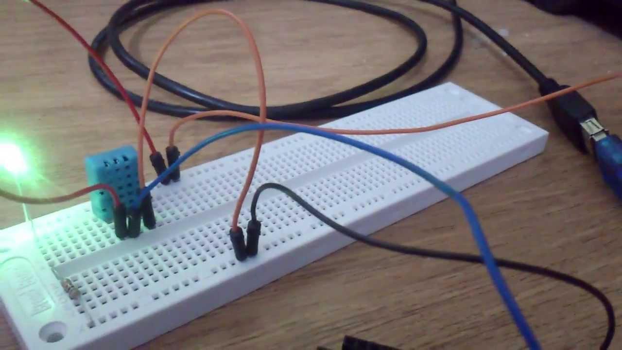 Arduino mega con dht sensor de temperatura y