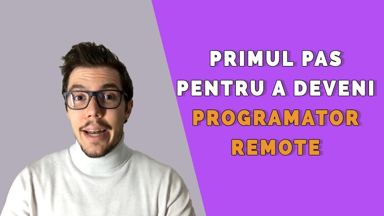 Primul pas pentru a deveni programator remote