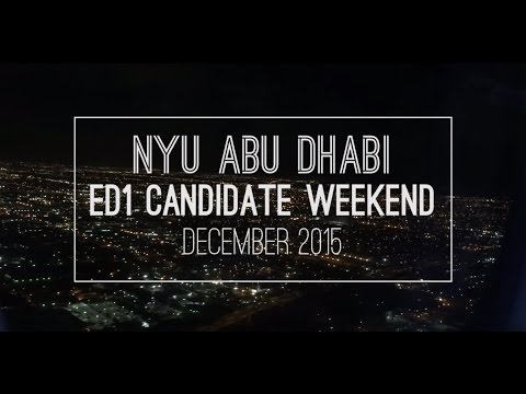 NYU Abu Dhabi Candidate Weekend - 2015